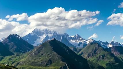 time lapse monte bianco