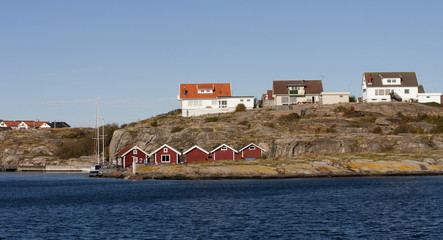 Swedish coastal townvillage