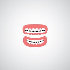 vector orthodontics sign