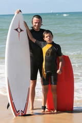 avec papa on surfe