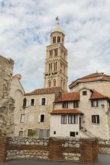 Vieille ville de Split et campanile