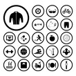 sports and healthy icons set