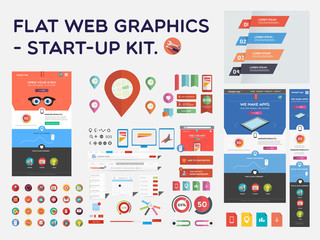 Flat web graphics - start-up kit