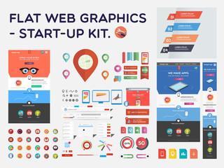 Flat web graphics - start-up kit