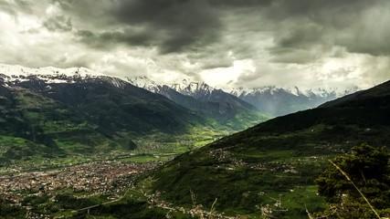 Temporale in montagna