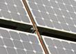Solarpanel Detail mit Verschraubung