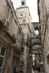 Tour de l'horloge et rue - Vieille ville de Split