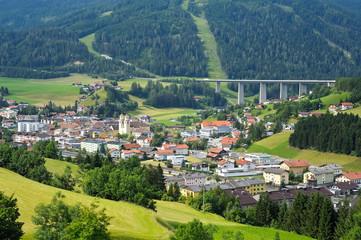 Gemeinde Steinach am Brenner mit Autobahn