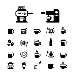 cup and coffee  icon set