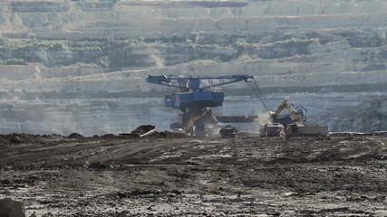 Landscape with Excavator