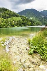 Landscape with lake Galbenu in Romania