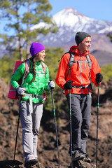 Hikers people hiking - healthy active lifestyle