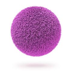 Pink fur carpet ball
