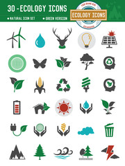 Ecology and natural icons on white background,clean vector
