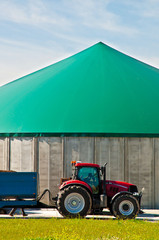 Red tractor and biogas