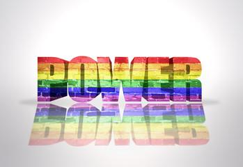 Word Power with Rainbow Gay Flag