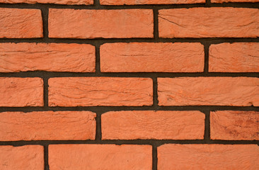 Red brick texture with black joints
