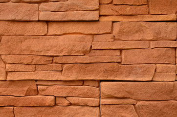 Red stone cladding texture