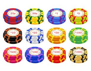 American Casino Chip Stacks