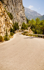 Mountain road in Greece