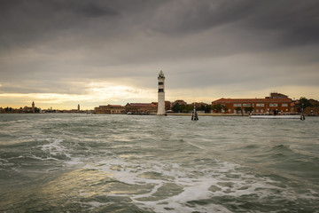 The tower of the lighthouse on Murano,Italy.