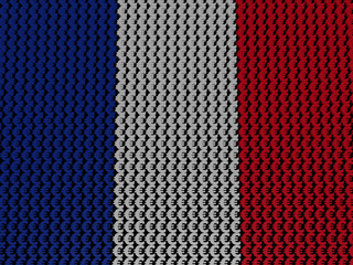 French Euros Flag background illustration