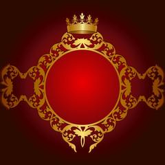 Royal golden frame
