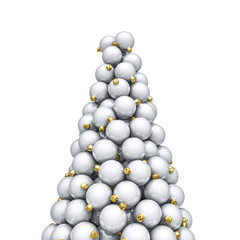 Christmas ornaments peak white