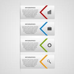 Modern infographic options banner. Design elements.