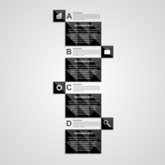 Vector abstract square infographics template.