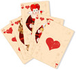 Hearts royal flush