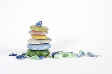 Heilsteine Handsteine Aquamarin Jade