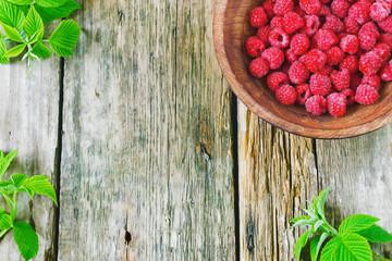 ripe raspberries