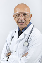 DOCTOR SMILING  WITH GLASSES