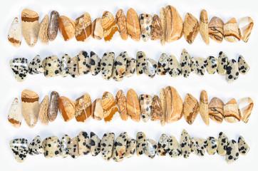 Polierte Edelsteine Reihen Jaspis