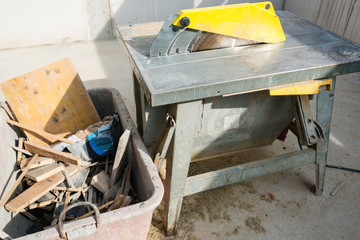 Table Saw at Construction Site