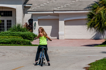 Young Girl On a Bike