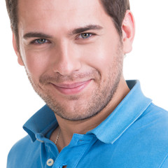 Closeup portrait of smiling happy man.