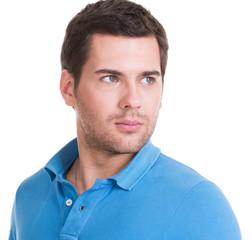 Closeup portrait of handsome man.