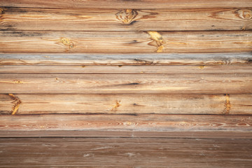 Empty uncolored wooden interior, background photo texture