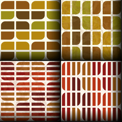 seamless patterns with autumn colours