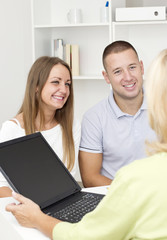 Financial Advisor with customers