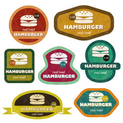 retro hamburgers