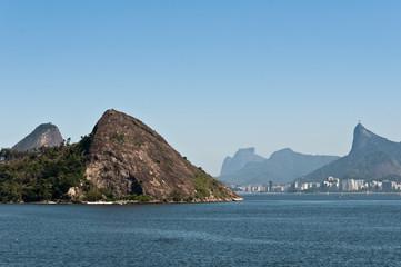 Niteroi and Rio de Janeiro Mountains and Ocean