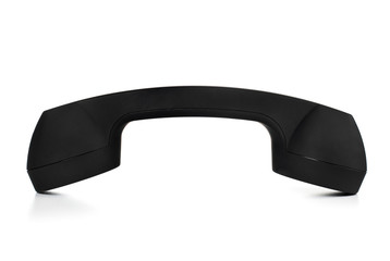 Black telephone handset