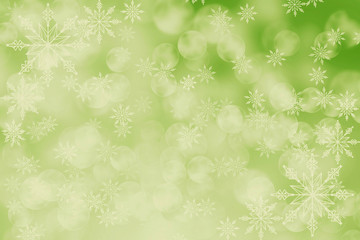 Abstract holiday background,  Christmas lights, snowflakes