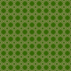 Seamless golden & green abstract pattern