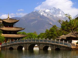 Black Dragon Pool and Jade Dragon Snow mountain (Yulongxui Shan)