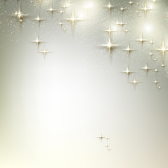 Elegant Christmas background with stars. Vector illustration