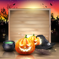 Modern Halloween greeting card